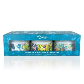 【Baija Paris 巴黎百嘉】迷你香氛蠟燭禮盒組(茶香茉莉、海洋梔子花、香櫞百香果)