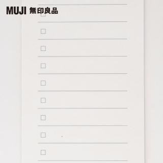 【MUJI 無印良品】短冊便條紙/待辦事項/14行.40頁