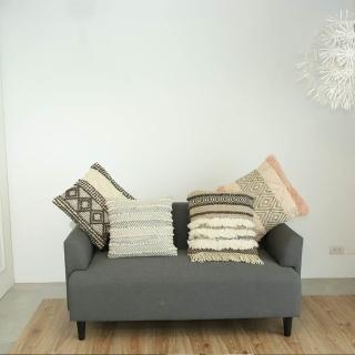 印度手工藝羊毛編織精品抱枕4件組(35)(S)