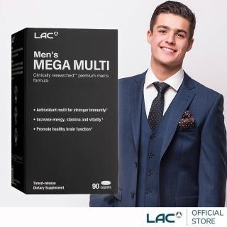 【GNC 健安喜】美佳男複方維他命 90錠(鋅/B群/南瓜籽/蕃紅素/精胺酸)