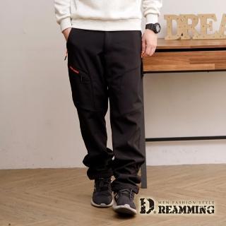 【Dreamming】功能型休閒防風防潑水厚刷毛衝鋒雪褲(共二色)