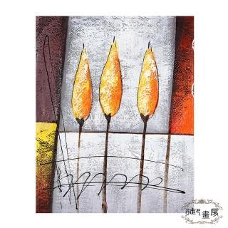 【御畫房】手繪無框油畫-銀花火樹 40x50cm