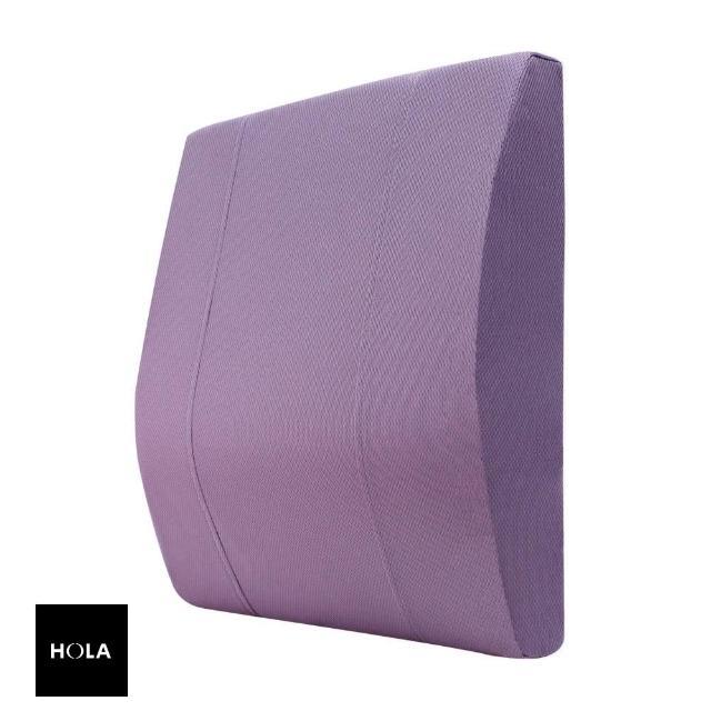 【HOLA】HOLA 高密度抗菌健康強化曲線腰墊紫色