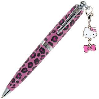 【ARTEX】KITTY吊飾筆 手環禮盒組 粉紅豹紋