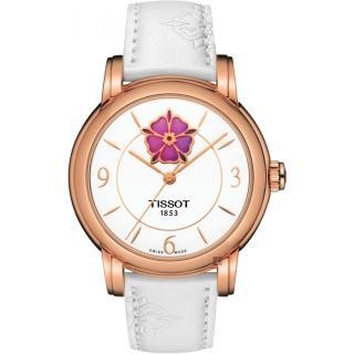 【TISSOT 天梭】Lady Heart 花朵鏤空機械女錶-36mm(T0502073701705)