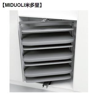 【MIDUOLI米多里】DT180GA11 緩衝 180 度旋轉鞋架(淺櫃)