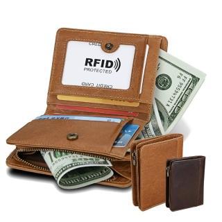 【玩皮工坊】真皮牛皮男士多隔層皮夾皮包錢夾錢包短夾男夾LH540(2色可選)