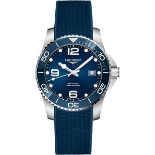 【LONGINES 浪琴】深海征服者浪鬼陶瓷潛水機械錶-藍x41mm(L37814969)