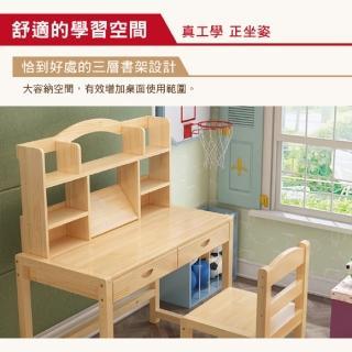 【彬彬小舖】B款實木兒童書桌椅 高品質桌椅高度可升降(學習桌 書櫃 課桌椅 電腦桌 兒童桌)