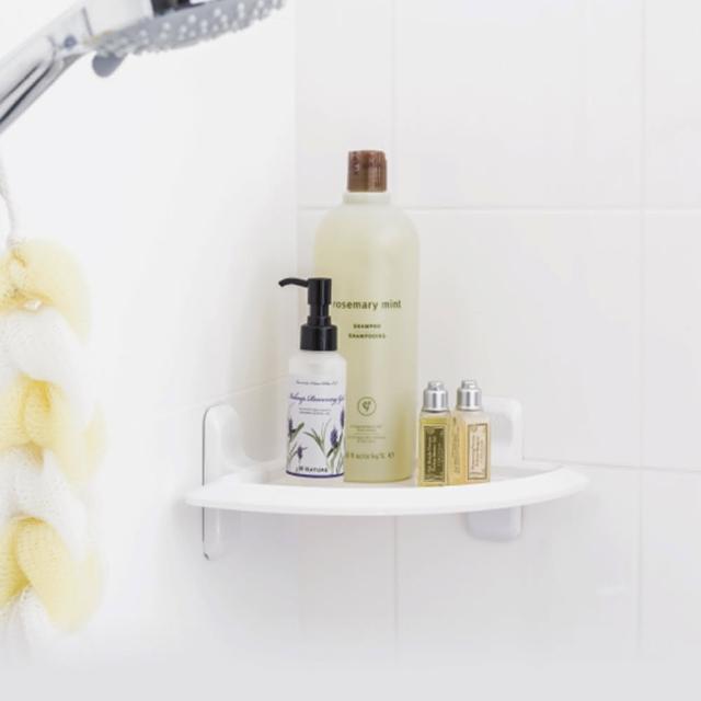 【3M】無痕防水收納-浴室三角架