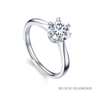 【RUIEN DIAMOND】GIA50分 D VS1 3EX(18K白金 鑽石婚戒 心之舞)