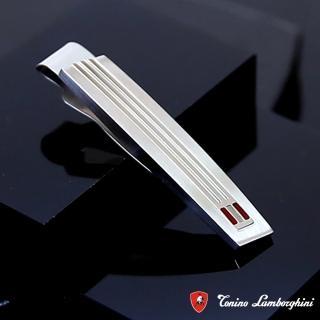 【藍寶堅尼Tonino Lamborghini】CORSA Red 領帶夾 防抗過敏 SUS316L頂級不鏽鋼 義大利精品