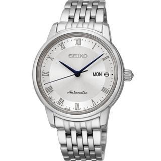 【SEIKO 精工】Presage 簡約永恆藍指針機械錶腕錶-女(4R36-04F0S/SRP887J1)