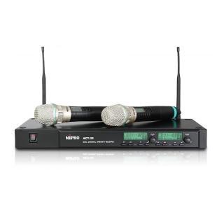 【MIPRO】ACT-35B(雙頻道自動選訊無線麥克風系統/遠距教學)