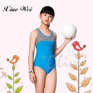 【Apple蘋果牌】時尚女童三角連身泳裝(NO.106609)