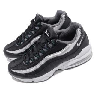 【NIKE 耐吉】休閒鞋 Air Max 95 Y2K 運動 女鞋 氣墊 經典款 球鞋 穿搭 舒適 大童 黑 銀(AT8091-001)
