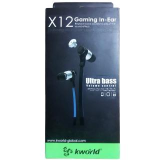 【Kworld 廣寰】入耳式電競耳麥 X12