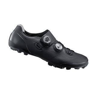 【SHIMANO】XC901 男性登山車越野競賽級車鞋 黑色(寬楦)
