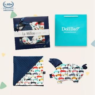 【La Millou】MOMO限定 豬寶寶專屬-單面巧柔豆豆毯標準款+豆豆小豬枕(附送禮禮盒+提袋_多款可選_彌月禮盒)