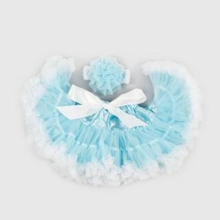 【日安朵朵】女嬰兒童雪紡蓬蓬裙 - 冰雪奇緣(寶寶女童澎裙禮服)
