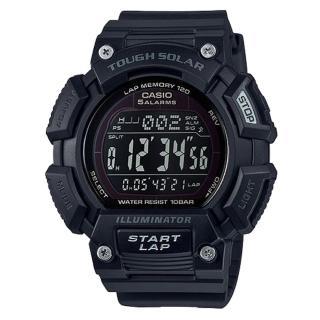 【CASIO 卡西歐】電子錶 運動風 太陽能 大錶面 休閒錶(STL-S110H-1B2)