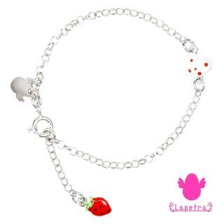 【西班牙 La Petra】甜心草莓 925純銀 琺瑯 手鍊