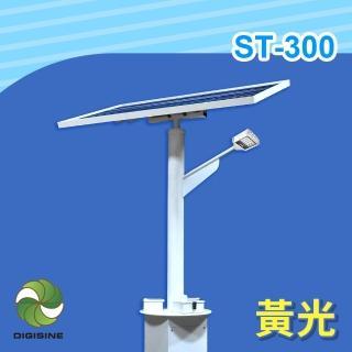 【DIGISINE】ST-300 太陽能智能路燈 - 12V系統/2000流明/黃光(太陽能發電/獨立電網/戶外照明路燈/藍牙遙控)