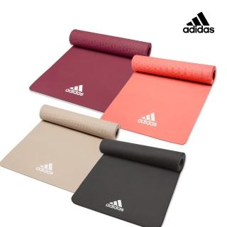 【adidas 愛迪達】Yoga 輕量波紋瑜珈墊-8mm(共三色)