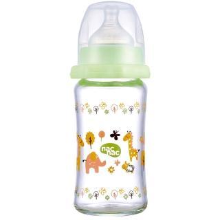 【nac nac】吸吮力學寬口耐熱玻璃奶瓶(240ml)