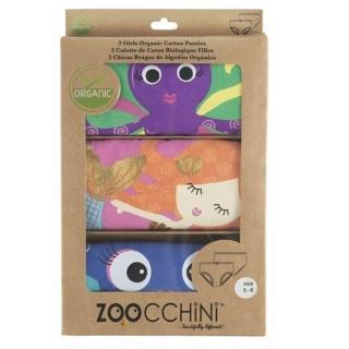【Zoocchini】幼童女內褲3入-三款可選(100%有機棉)