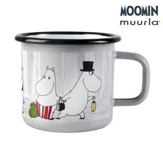 【JIA Inc 品家家品】Muurla - 嚕嚕米爸爸媽媽琺瑯馬克杯 白色(370cc)