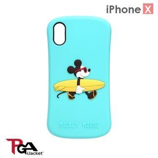 【iJacket】iPhone XS/X 5.8吋 迪士尼 可愛/矽膠 矽膠套(衝浪米奇)