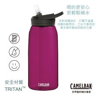 【CAMELBAK】1000ml eddy+多水吸管水瓶  洋紅(CB1644601001)
