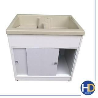 【海德廚衛】日式熱銷防蟑櫥櫃式塑鋼雙水槽(雙門/附洗衣板)