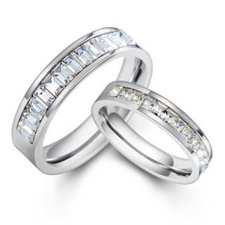 【GIUMKA】情侶對戒 閃亮T鑽 白鋼戒指 情人戒指 情人節 禮物 單個價格 MR08038(銀色)