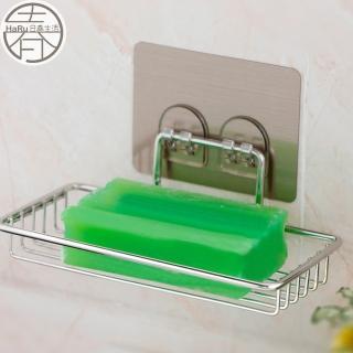 【家工廠】無痕貼不鏽鋼瀝水肥皂架(收納架 置物架 肥皂架)