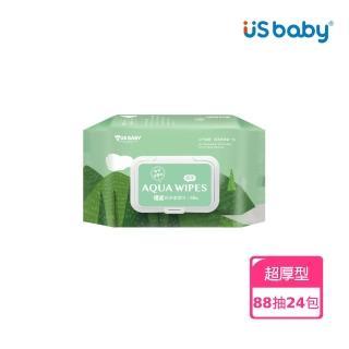 【US BABY 優生】超厚型純淨柔濕巾88抽(24包)