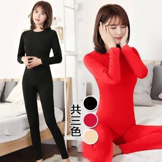 【K.W.】日式簡約圓領絨內裏內衣家居套裝(共1色)