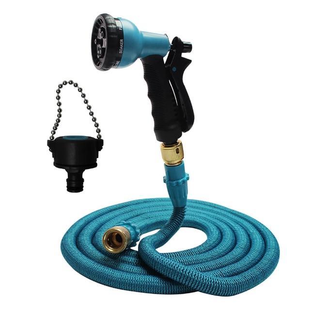 【Effect】第八代高壓一體式8段彈力伸縮水管(10公尺萬用轉接頭)