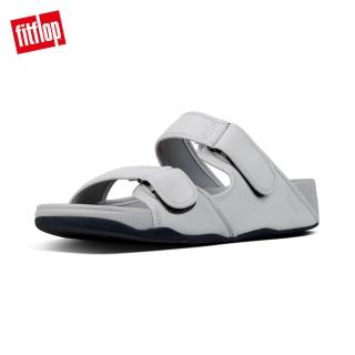 【FitFlop】GOGH MOC NEOPRENE ADJUSTABLE SLIDES可調整式涼鞋(淺灰色)