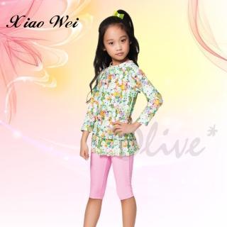 【Apple蘋果牌】時尚女童長袖二件式泳裝(NO.106601)