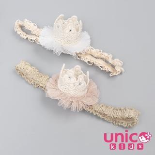【UNICO】韓版 兒童立體皇冠造型髮帶