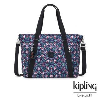 【KIPLING】熱帶萬花筒印花兩用托特包-SKYLER