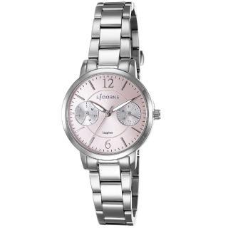 【LICORNE】力抗錶 花漾時光雙眼手錶(銀/粉紅 LT143LWPI)