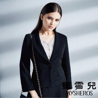 【mysheros 蜜雪兒】星空亮黑西裝外套(黑)