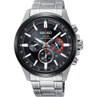 【SEIKO 精工】Criteria 太陽能計時碼錶-42.8mm(V175-0ER0R  SSC677P1)