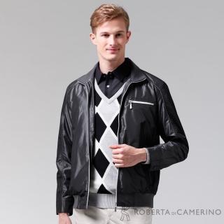 【ROBERTA 諾貝達】進口素材 禦寒必備 內刷毛夾克外套(ROC70-97黑色)
