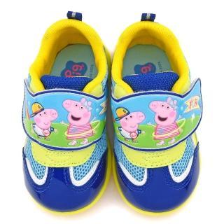 【童鞋城堡】粉紅豬小妹 中童 佩佩喬治 透氣輕量運動鞋(PG8560-藍)