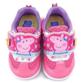 【童鞋城堡】粉紅豬小妹 佩佩豬 中童 蝴蝶造型透氣運動鞋(PG6400-粉)