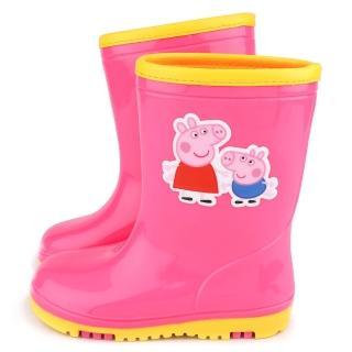 【童鞋城堡】粉紅豬小妹 中童 雙色大底雨鞋(PG8532-粉)